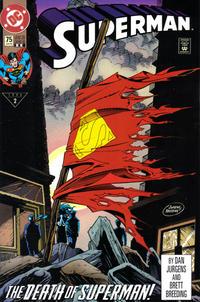 Cover Thumbnail for Superman (DC, 1987 series) #75 [2nd Print Variant White Logo]
