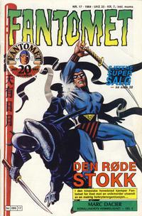 Cover Thumbnail for Fantomet (Semic, 1976 series) #17/1984