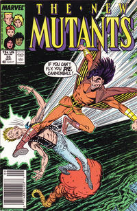 Cover Thumbnail for The New Mutants (Marvel, 1983 series) #55 [Newsstand Edition]