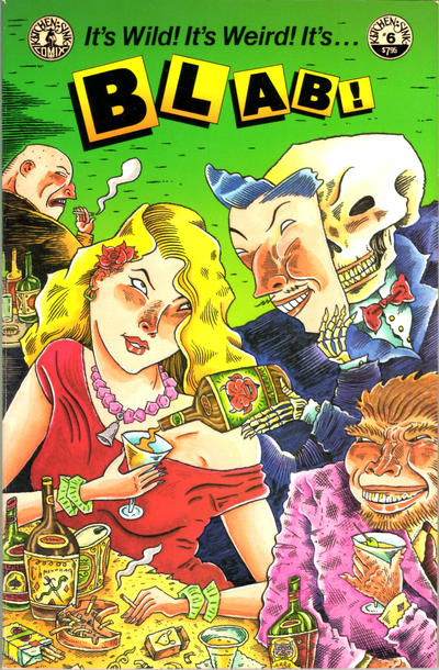Cover for Blab! (Kitchen Sink Press, 1988 series) #6