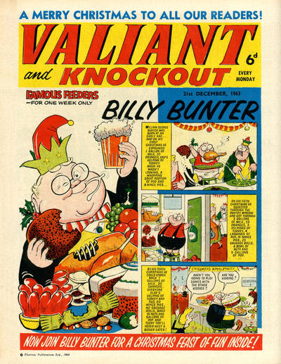 Cover for Valiant and Knockout (IPC, 1963 series) #21 December 1963