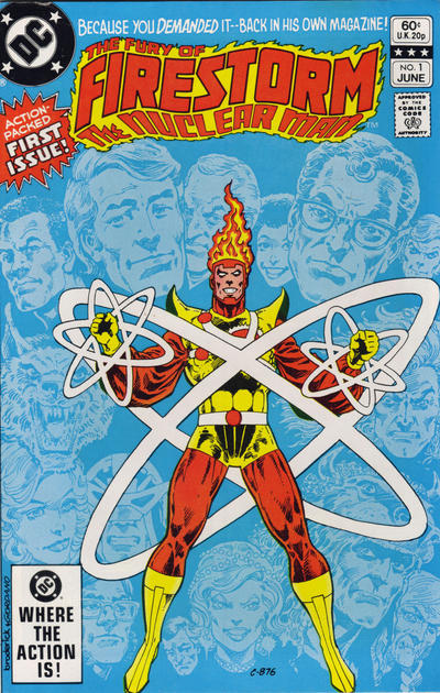 Cover for The Fury of Firestorm (DC, 1982 series) #1 [Newsstand]