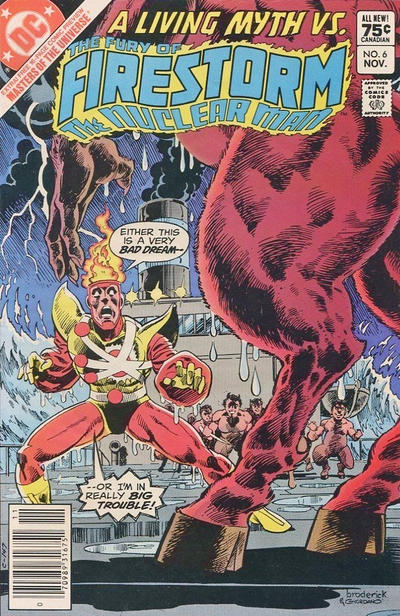 Cover for The Fury of Firestorm (DC, 1982 series) #6 [Canadian newsstand]