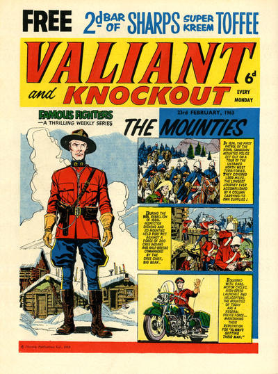 Cover for Valiant and Knockout (IPC, 1963 series) #23 February 1963
