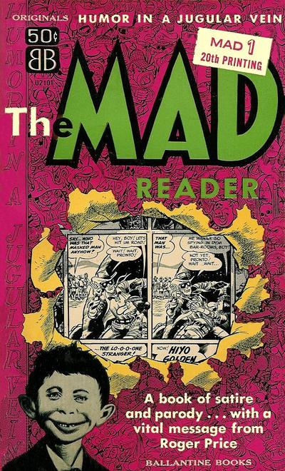 Cover for The Mad Reader (Ballantine Books, 1954 series) #U2101 (1)