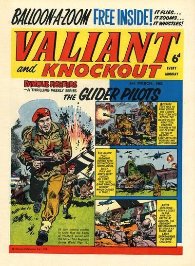 Cover for Valiant and Knockout (IPC, 1963 series) #2 March 1963