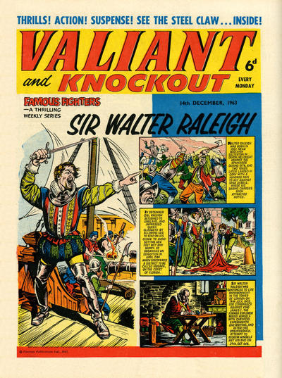 Cover for Valiant and Knockout (IPC, 1963 series) #14 December 1963