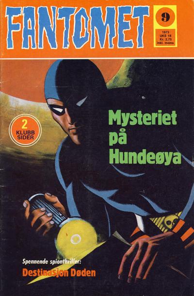 Cover for Fantomet (Nordisk Forlag, 1973 series) #9/1973
