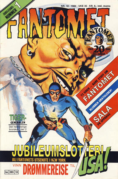 Cover for Fantomet (Semic, 1976 series) #18/1984
