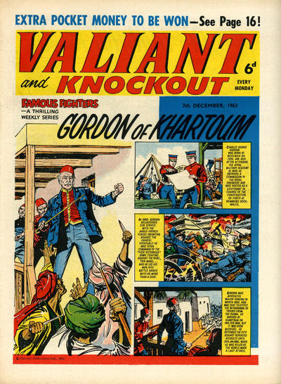 Cover for Valiant and Knockout (IPC, 1963 series) #7 December 1963