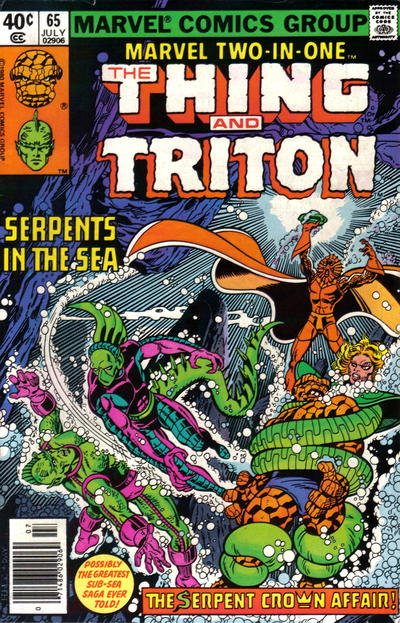 Cover for Marvel Two-in-One (Marvel, 1974 series) #65 [British]