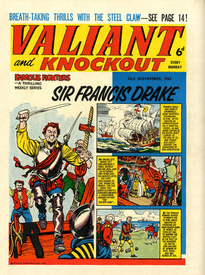 Cover for Valiant and Knockout (IPC, 1963 series) #23 November 1963