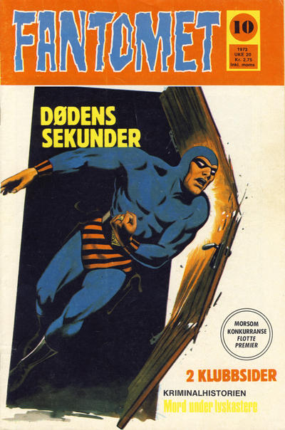 Cover for Fantomet (Nordisk Forlag, 1973 series) #10/1973