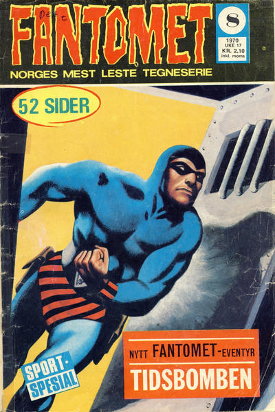 Cover for Fantomet (Romanforlaget, 1966 series) #8/1970