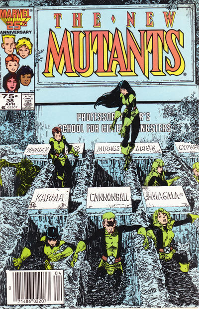 Cover for The New Mutants (Marvel, 1983 series) #38 [newsstand]