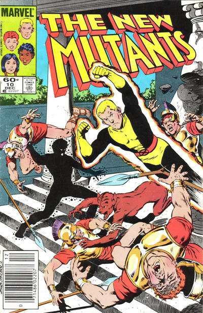 Cover for The New Mutants (Marvel, 1983 series) #10 [newsstand]