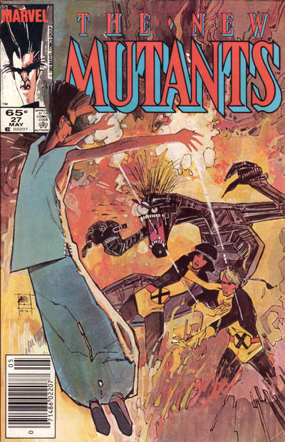 Cover for The New Mutants (Marvel, 1983 series) #27 [direct]