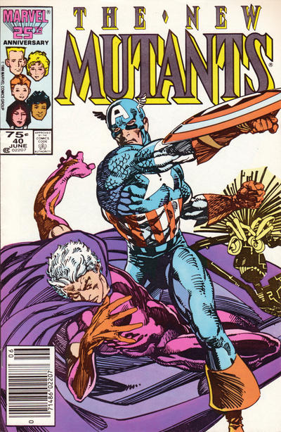 Cover for The New Mutants (Marvel, 1983 series) #40 [direct]