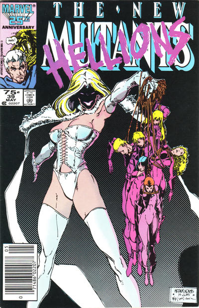 Cover for The New Mutants (Marvel, 1983 series) #39 [newsstand]