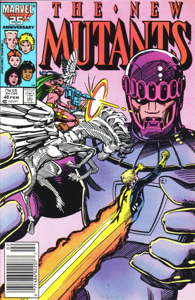Cover for The New Mutants (Marvel, 1983 series) #48 [Direct Edition]