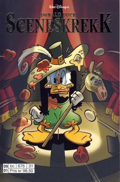 Cover for Donald Duck Tema pocket; Walt Disney's Tema pocket (Hjemmet / Egmont, 1997 series) #Donald Duck Sceneskrekk