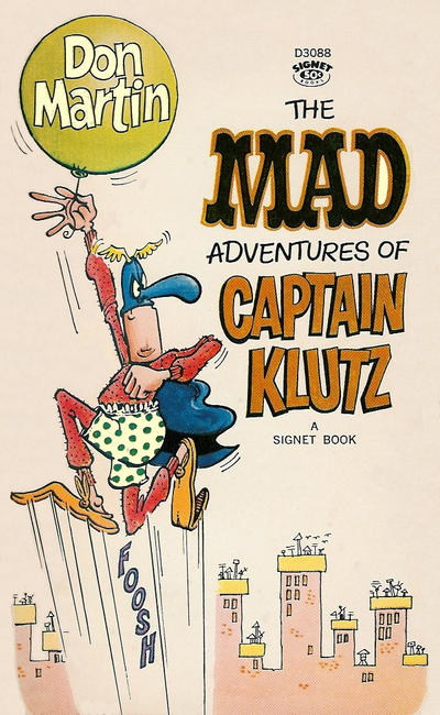 Cover for The Mad Adventures of Captain Klutz (New American Library, 1967 series) #T5040 [10th printing]
