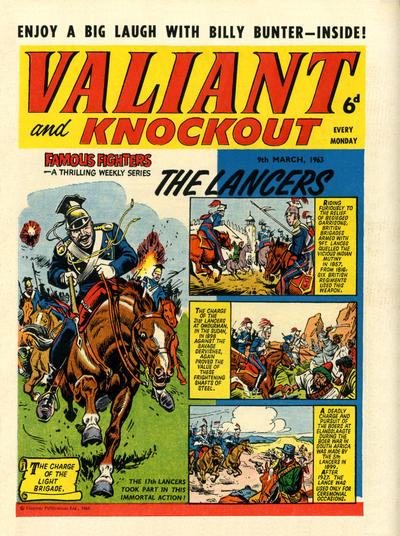 Cover for Valiant and Knockout (IPC, 1963 series) #9 March 1963