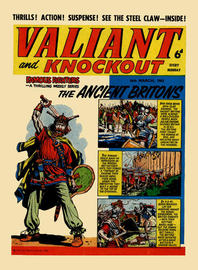 Cover for Valiant and Knockout (IPC, 1963 series) #16 March 1963