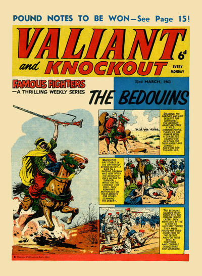 Cover for Valiant and Knockout (IPC, 1963 series) #23 March 1963