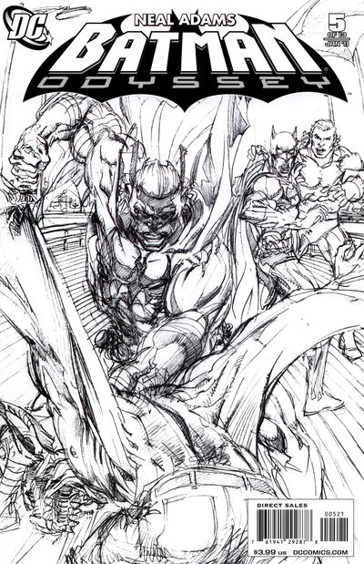 Cover for Batman: Odyssey (DC, 2010 series) #5 [Sketch cover]
