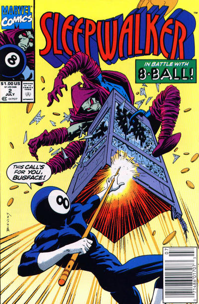 Cover for Sleepwalker (Marvel, 1991 series) #2 [Newsstand]