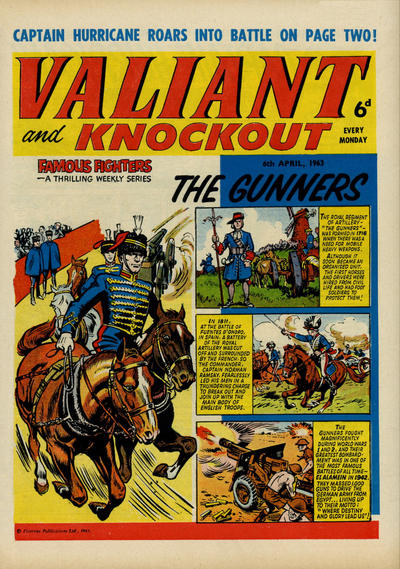 Cover for Valiant and Knockout (IPC, 1963 series) #6 April 1963