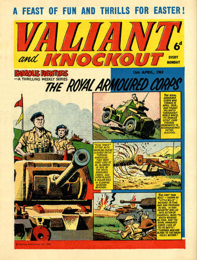 Cover for Valiant and Knockout (IPC, 1963 series) #13 April 1963