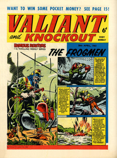 Cover for Valiant and Knockout (IPC, 1963 series) #20 April 1963