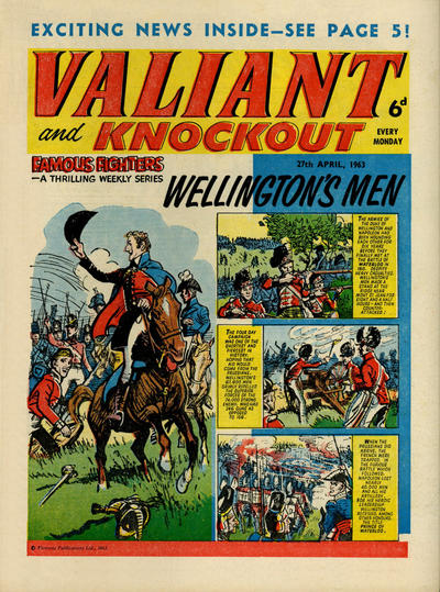 Cover for Valiant and Knockout (IPC, 1963 series) #27 April 1963