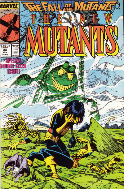 Cover for The New Mutants (Marvel, 1983 series) #60 [direct]