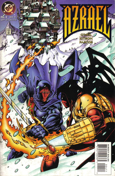 Cover for Azrael (DC, 1995 series) #4 [Newsstand]