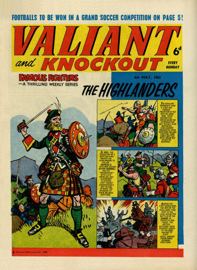 Cover for Valiant and Knockout (IPC, 1963 series) #4 May 1963