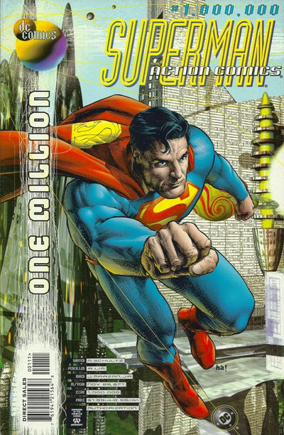 Cover for Action Comics (DC, 1938 series) #1,000,000 [Direct Sales]