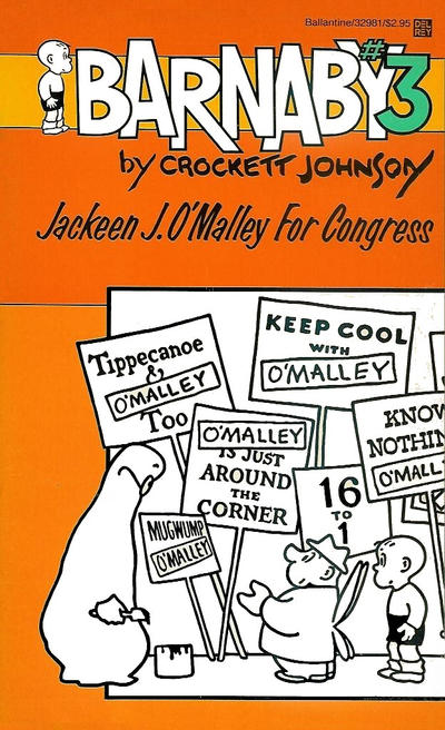 Cover for Barnaby (Ballantine Books, 1985 series) #3 - Jackeen J. O'Malley for Congress