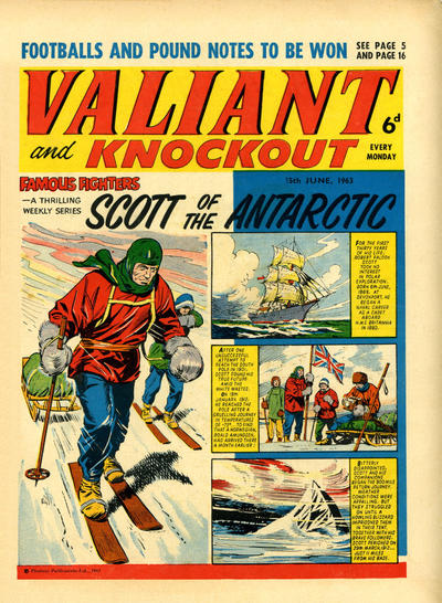 Cover for Valiant and Knockout (IPC, 1963 series) #15 June 1963