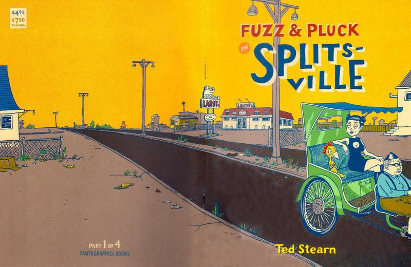 Cover for Fuzz & Pluck in Splitsville (Fantagraphics, 2001 series) #1