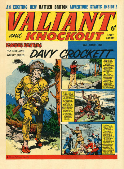 Cover for Valiant and Knockout (IPC, 1963 series) #29 June 1963