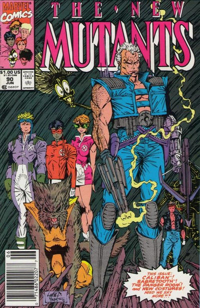 Cover for The New Mutants (Marvel, 1983 series) #90 [direct]