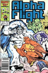 Cover Thumbnail for Alpha Flight (1983 series) #38 [Newsstand Edition]