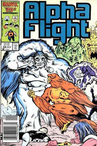 Cover Thumbnail for Alpha Flight (Marvel, 1983 series) #38 [Newsstand Edition]