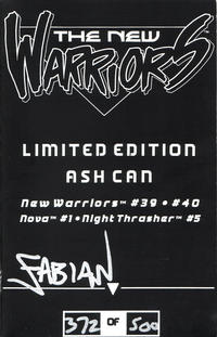 Cover Thumbnail for New Warriors Limited Edition Ash Can (Marvel, 1993 series) #[nn]