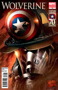Cover Thumbnail for Wolverine (Marvel, 2010 series) #12 [Incentive I Am Captain America Variant Cover ]