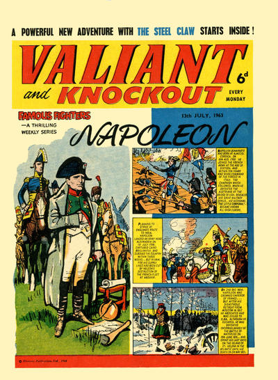 Cover for Valiant and Knockout (IPC, 1963 series) #13 July 1963