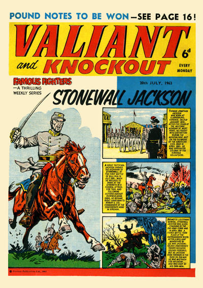 Cover for Valiant and Knockout (IPC, 1963 series) #20 July 1963
